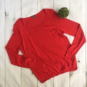 VINCE CAMUTO Faux Crossover Sweater, Large